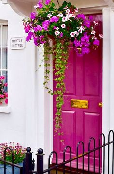 25 fabulous front doors: Get inspired to create a statement entry of your own. Click through to see our round up of 25 of the most beautiful front door colours Door Paint Colors, Front Door Colors, Front Door Decor, Bright Front Doors, Entrance Doors, Doorway, Beautiful Front Doors, Unique Front Doors, Painted Front Doors