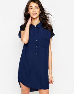 Vero Moda | Vero Moda Sleeveless Shirt Dress With Mesh Detail at ASOS
