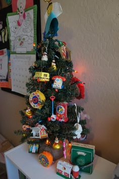 Fisher Price Ornament Tree. I have to do this next year!