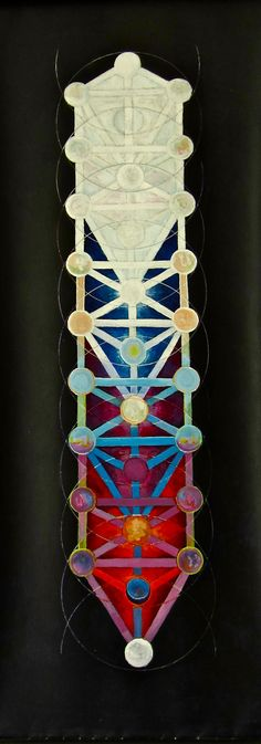 Painting of Jacobs Ladder, showing  the Four Worlds dovetailed  (Trees of Emanation,  Creation, Formation and Substance)   ja/2004
