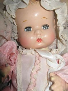 VINTAGE EFFANBEE PATSY PATSYETTE OLD COMPOSITION BABY DOLL AROUND 9 INCHES TALL