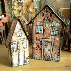 Servus and welcome to my little creative spot here in beautiful Vienna! I would like to share two tiny mixed media houses today that just ...