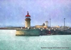 Harbour Entrance, Ramsgate, Kent,  Limited Edition Giclee Fine Art print. via Trevor Harvey Art. Click on the image to see more!
