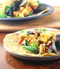 Curried Coconut Tofu Wraps