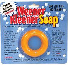 Weener Kleener Soap- OMG I can't believe this even exist for men LOL