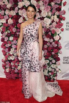 Belle of the ball:Lucy Liu looked radiant as she arrived at the 2016 American Theatre Win...