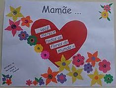Resultado de imagem para ideias dia da mae pre escolar Diy And Crafts, Crafts For Kids, Mothers Day Pictures, 8th Of March, Mother And Father, Classroom Decor, Fathers Day, Banner, Crafty