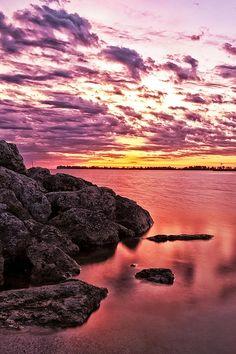 Spring Sunrise - Lake Erie, Between Toledo & Cleveland, Ohio