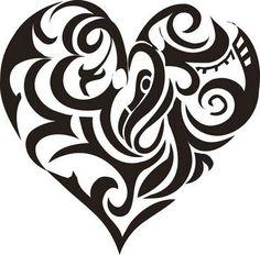 Only the best free Large Tribal Heart Tattoo Sketch tattoo's you can find online! Large Tribal Heart Tattoo Sketch tattoo's to print off and take to your tattoo artist. Free Tattoo Designs, Heart Tattoo Designs, Tribal Tattoo Designs, Heart Designs, Stencils Tatuagem, Tattoo Stencils, Celtic Tattoo For Women, Celtic Tattoos, Symbol Tattoos