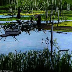 Joanna Marsh, huile sur toile de Neil Gavin Welliver (1929-2005, United States)
