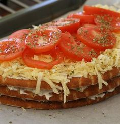 topping Sandwich Cake, Sandwiches, Vegetarian Recipes, Cooking Recipes, Something Sweet, Bruschetta, Food Porn, Brunch, Paleo