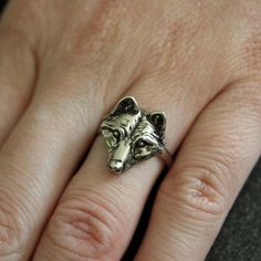 Little Wolf Face Ring