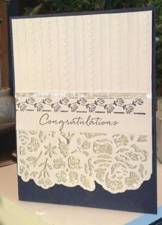 Stampin up Floral Phrases by n.stamper - Cards and Paper Crafts at Splitcoaststampers, Wedding, Anniversary Wedding Anniversary Cards, Wedding Cards, Anniversary Ideas, Wedding Gifts, Trendy Wedding, Birthday Cards, Sister Birthday, Birthday Gifts, Engagement Cards