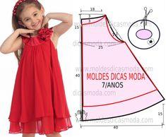vestido infantil simples