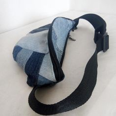 Denim waist bag purse for leisure and shopping with an image 9 Pocket Pal, Denim Belt, Pouch, Wallet, Distressed Jeans, Sling Backpack, Purses And Bags, Buy And Sell, Unisex