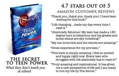 The Secret To Teen Power was conceived as a literal translation of Rhonda Byrne's first book, The Secret. Producer of The Secret movie, Paul Harrington, was inspired by his own daughter to adapt the text for a teenage readership in order to introduce her, as well as her contemporaries, to the law of attraction; in other words, what they don't teach you at school.