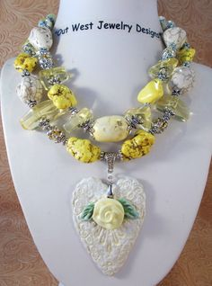 Cowgirl Necklace Set  Chunky Howlite Turquoise  by Outwestjewelry