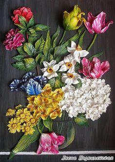 Мир цветов - Скульптура и лепка - Лепные панно и барельефы