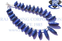 Lapis Lazuli Smooth Marquise (Quality AA) Shape: Marquise Smooth Length: 18 cm Weight Approx: 13 to 15 Grms. Size Approx: 5.5x12 to 6.5x20 mm Price $33.60 Each Strand