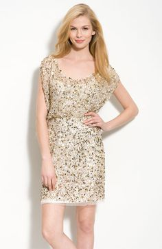 Aidan Mattox Beaded Blouson Dress available at #Nordstrom