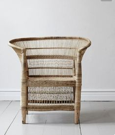 French-African wicker chair, hand made. Dimensions may vary slightly from chair to chair. Furniture Sale, Home Decor Furniture, Furniture Design, Indian Furniture, Cheap Furniture, Furniture Ideas, Rattan Outdoor Furniture, Wicker Chairs, Dining Chairs