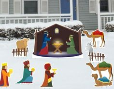 Christmas Yard Decoration Set - Christmas Yard Decoration of Nativity Scene – made from weatherproof and recyclable corrugated plastic  Link    #Christmas