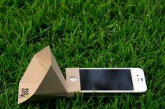 Eco-amp, un amplificateur de son en carton pour iPhone