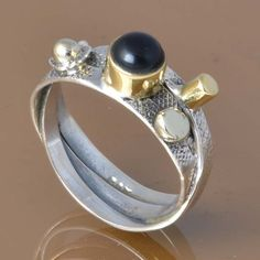 BLACK ONYX 925 SOLID STERLING SILVER EXCLUSIVE RING 4.38g DJR7458 #Handmade #Ring