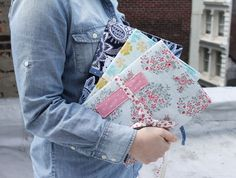 FREE PATTERN! Journal Cover for Composition Notebook   Dear Stella Design
