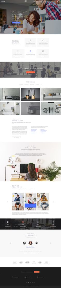 Multi Purpose Creative Agency Portfolio PSD Template - Roxine by waituk