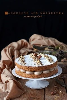 Nusret Hotels – Just another WordPress site Desserts To Make, Dessert Recipes, Dacquoise Recipe, French Sweets, Hazelnut Meringue, Desserts With Biscuits, Buttery Biscuits, Gula, Sponge Cake Recipes
