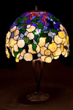 Hey, I found this really awesome Etsy listing at https://www.etsy.com/listing/226777816/tiffany-hydrangea-stained-glass-lamp