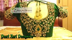 Green bridal blouse with  zardosi and stone