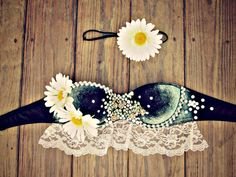 Bohemian Princess Daisy Rave Bra by TheLoveShackk on Etsy