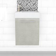 How much do you love our new #BoutiqueCollectionSpaceSaver vanity in Linen ? #bathroom #vanities #design #homedecor #interiordesign #renovations #CutlerKitchenandBath