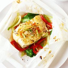 Cook your fish in parchment paper—there's no mess and it's healthy and delicious. #recipes