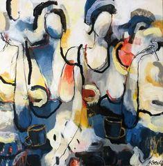 "Saatchi Art Artist Magdalena Krzak; Painting, ""''Coffee And Cigarettes"""" #art"
