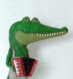 A is for Aloysius Alligator and his by cartbeforethehorse on Etsy, $140.00