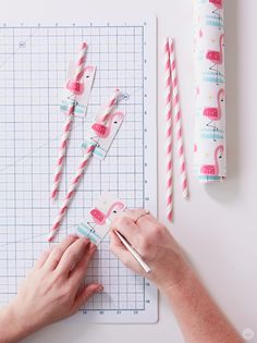 What a fun idea! Use Hallmark gift wrap to create colorful DIY party favors! This simple tutorial from Think.Make.Share walks you through the process. Happy crafting!