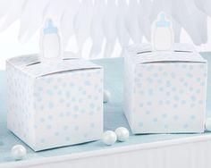 Kate Aspen  Classic Blue Baby Bottle Favor Box (Set of 24)