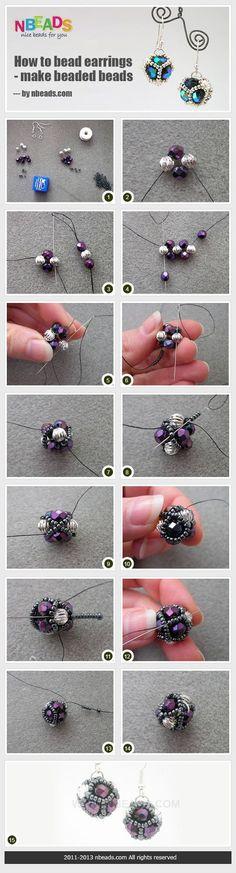 how to bead earrings - make beaded beads: