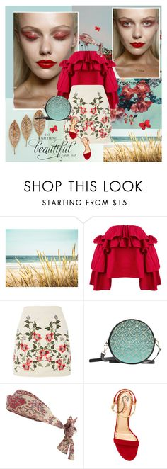 """""""Florescence"""" by rainie-minnie ❤ liked on Polyvore featuring Erika Cavallini Semi-Couture, Topshop, Zimmermann, Charlotte Olympia, WALL and J.Crew"""