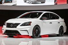 Nissan Sentra Nismo Concept Debuts With Turbo beats my 2004 sentra base :) Nissan Sentra, Nissan Nismo, Nissan Auto, Cars Usa, Us Cars, Volkswagen Jetta, Toyota Corolla, Honda Civic, Cars