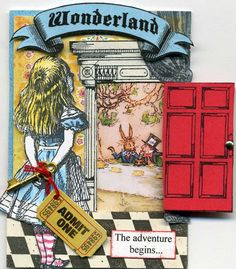 alice in wonderland atc - Make this! Alice In Wonderland Crafts, Alice In Wonderland Illustrations, Adventures In Wonderland, Lewis Carroll, Arte Pop Up, Books Art, Alice Book, Alice Tea Party, Mad Hatter Tea
