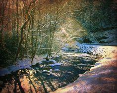 #Winter Creek Landscape Framed Miniature Artistic Photo by jaicards, $30.00