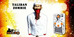 """Blow up """"Taliban"""" zombie target, filled with explosives!"""