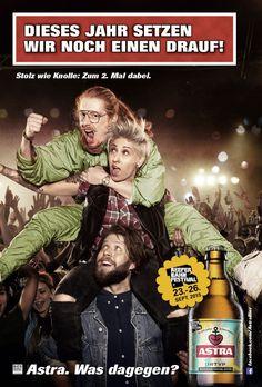Das Anzeigenmotiv zur Sonderedition, das in den sozialen Netzwerken in Umlauf gebracht wird Beer Commercials, Ritter Sport, Beer Poster, Advertising Ads, Love My Job, Man Humor, Cocktails, Drinks, Brewery