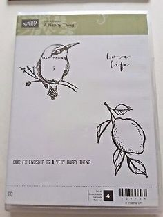Stampin Up A Happy Thing 4 Rubber Clearmount. Our Friendship, Small Birds, All You Need Is, All Pictures, Love Life, Things To Think About, Stampin Up, Illustration, Happy
