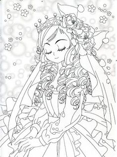 colouring pages coloring sheets adult coloring coloring books anime princess asian art les themes big eyes colour book