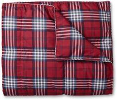 Oversized Plaid Down Throw Blanket | Eddie Bauer